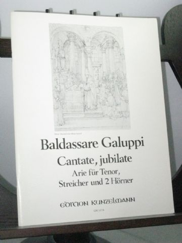 Galuppi B - Cantate, Jubilate Aria for Tenor, Strings & 2 Horns